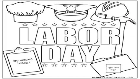 labor day colors labor day coloring pages
