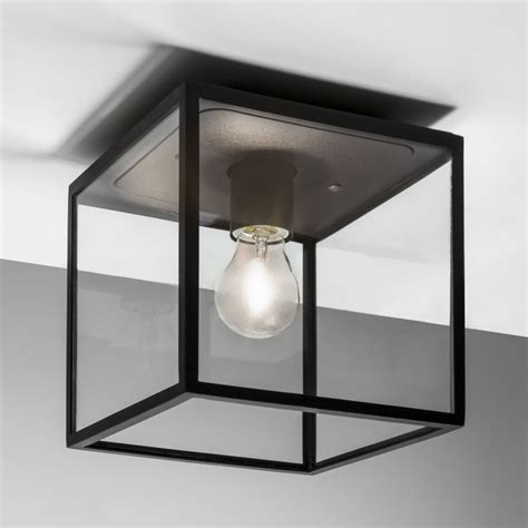 Ceiling Lights Black Astro Lighting 7389 Box Black Exterior Ceiling Light
