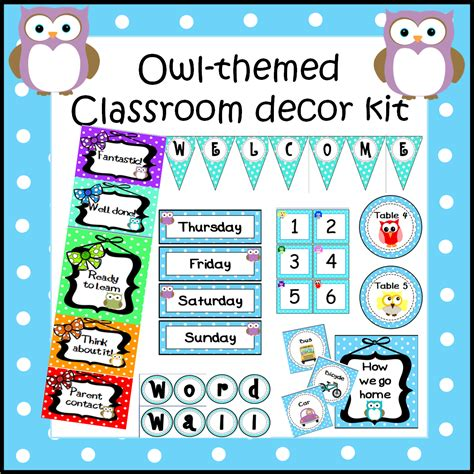 owl printables for classroom a crucial week july 2014
