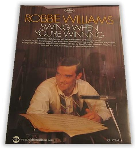 Robbie Williams Wing When You Re Winning robbie williams swing when you re winning uk promo poster 30 x 20 swing when you re winning