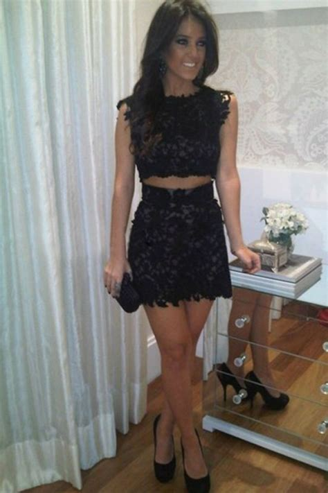 piece bodycon short lace homecoming dress wisebridalcom