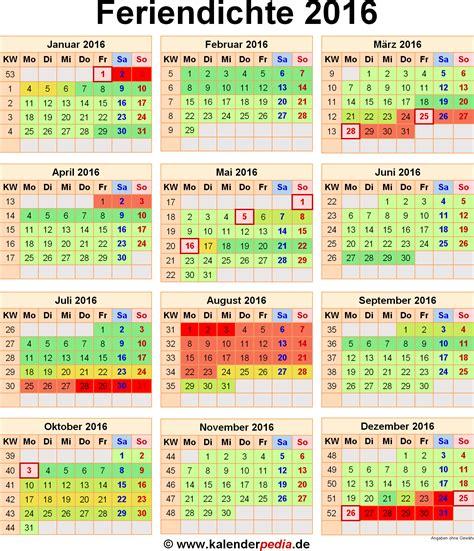 Kalender 2018 Ferien Frankreich Feriendichte 2016 Alle Schulferien 2016 Im Kalender