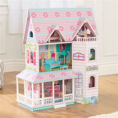 doll house toy abbey manor dolls house with furniture for children in s a