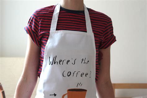 coffee shop apron design funny aprons a cup of jo