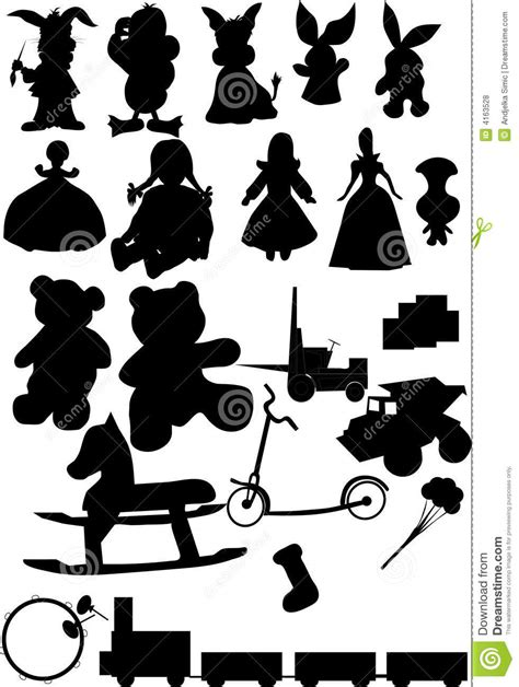 toys silhouette vector stock vector image  education
