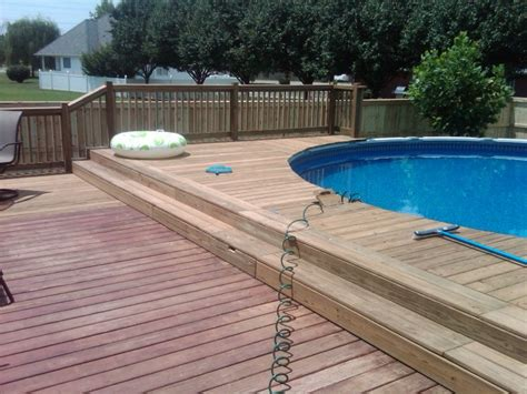 Backyard Pools With Deck Landscaping Pool Above Ground Pool Decks Idea For Your