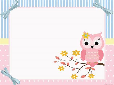 hacer tarjetas de baby shower de buho lindo b 250 ho rosa imprimibles para fiestas invitaciones y