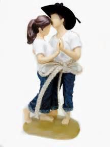 cowboy cake topper casual lasso of western wedding cake topper figurine