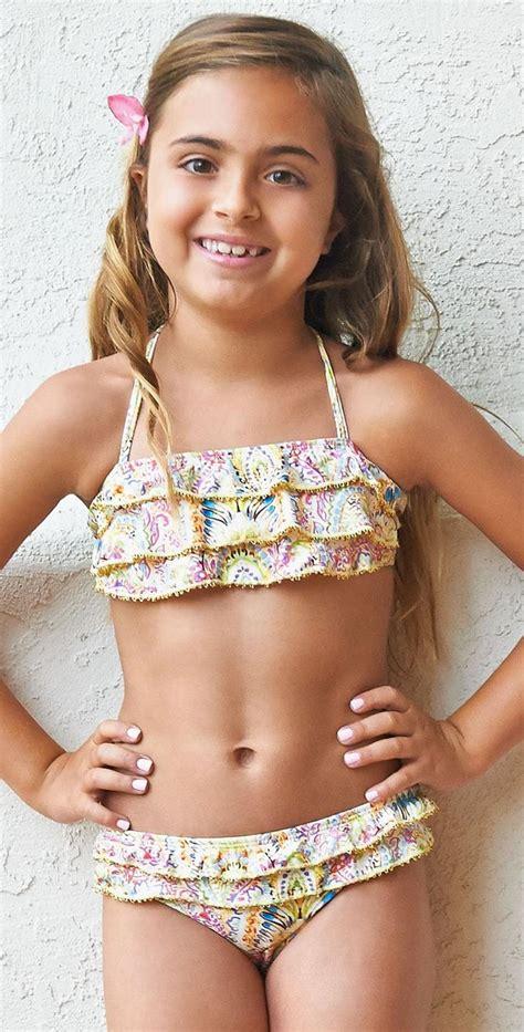 children swimsuits bikinis pilyq girls romance embroidered ruffle bikini rom 806b