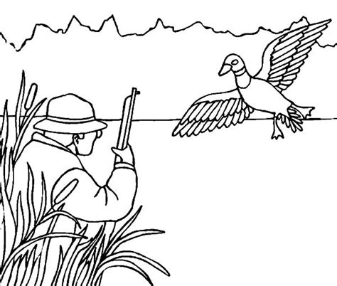 duck shooting and sketches classic reprint books hide between grass when duck coloring pages