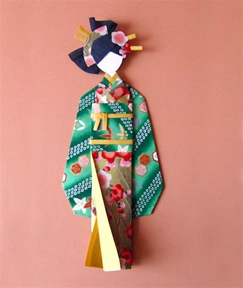 How To Make Japanese Paper Dolls - japanese paper doll tutorial kokeshi