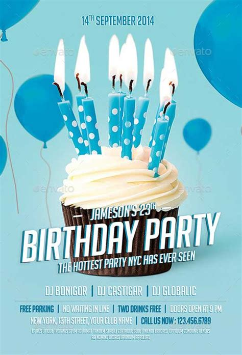 Best Of Birthday Flyer Templates Free And Premium Flyer Collection Celebration Flyer Template