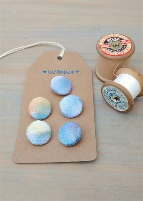 Handmade Sewing Gifts - silk buttons handmade buttons sewing gifts folksy