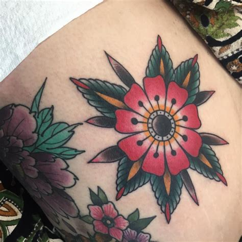 tattoo flower traditional american traditional tattoos therealjonftw little
