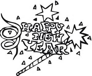 coloring pages new years free gallery