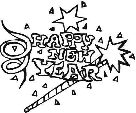free printable new years coloring pages for