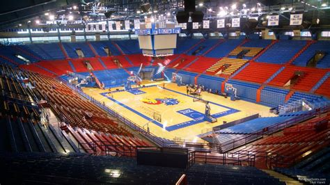 Section 2a by Top View From Seats Allen Fieldhouse Images For
