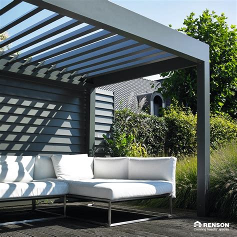 lamellen terrassendach louvered roof canopies pergolas with a remote controlled