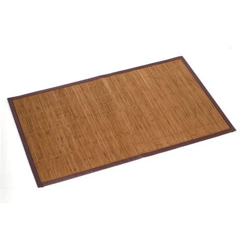 tapis de bain bambou tapis de bains bambou 50 x 80 cm leroy merlin