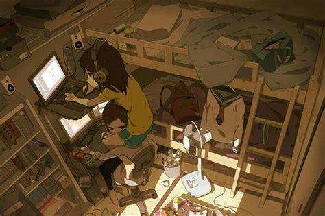 anime wallpaper for your room anime art otaku nerd computer laptop