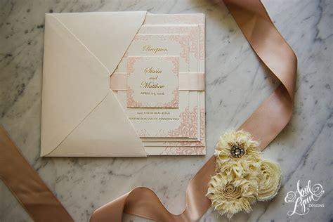 gold and blush wedding invitations wedding