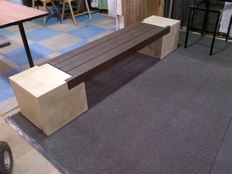 concrete benches concrete countertop wall panels and furniture designs