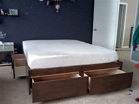 diy bed platform diy full size platform bed with storage drawers plans