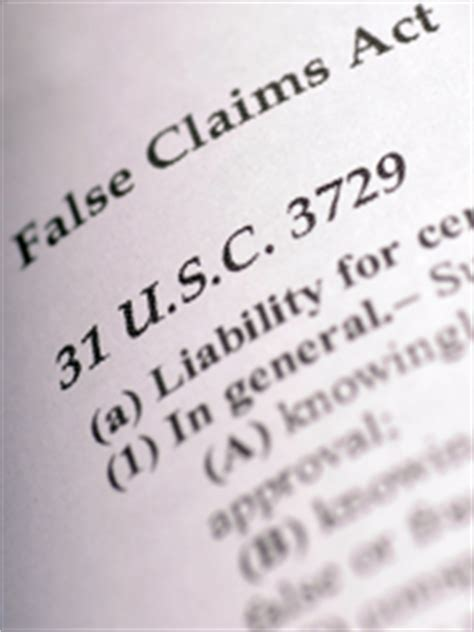 false and fraudulent claims fraud office of inspector false claims qui tam