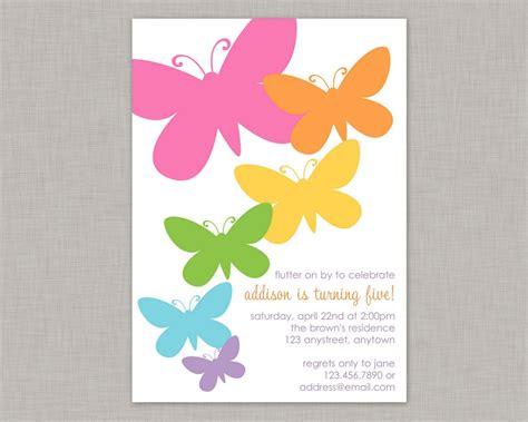 butterfly invitation template butterfly birthday invitation cimvitation