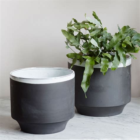 plant potters large dark grey plant pots set of two vases plant pots