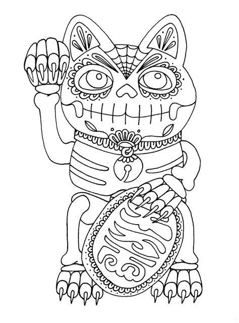 coloring page dia de los muertos dia de los muertos coloring pages to download and print