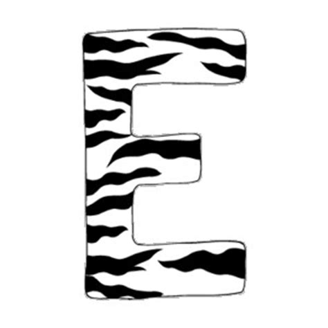 printable letters in zebra print zebra print wall decals letters a z polyvore