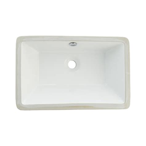 rectangular bathroom sink undermount shop elements of design castillo white vitreous china