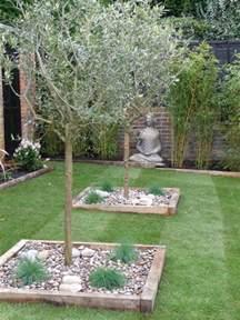 gras im garten anbauen kiesbeet anlegen gestaltung eines mediterranen gartens