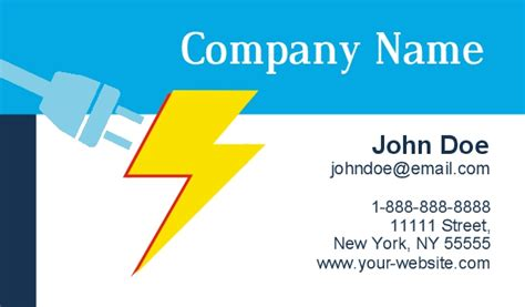 Business Cards Electrical Templates Free by Electrician Business Cards
