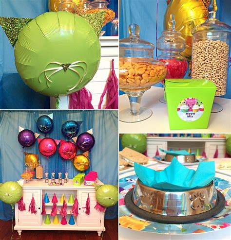 themes for a kitty party kitty cat party ideas animal party ideas at birthday in