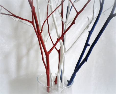 home decor tree branches tree branches home decor branches 4th of july decor red