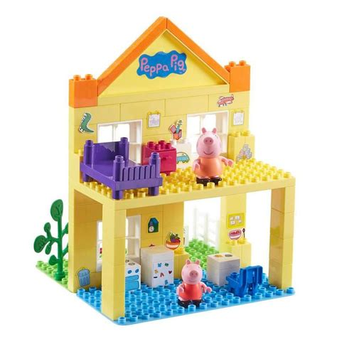 peppa pig house playset welcome to character online co uk peppa pig construction toys deluxe house set