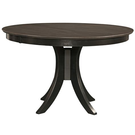 round black dining room table cosmopolitan coal black dining room pedestal table 48