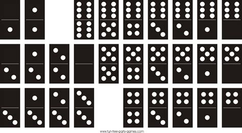 Printable Dominoes