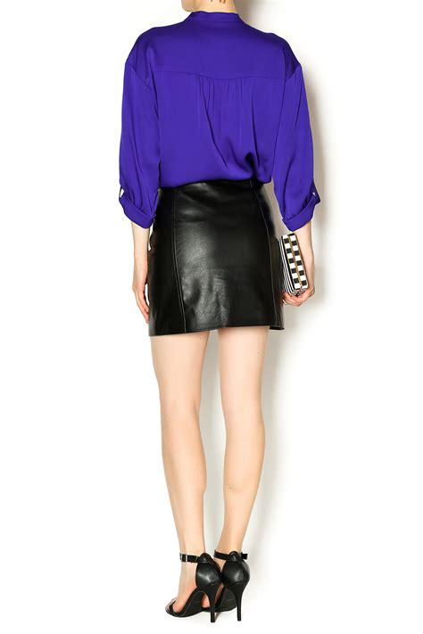 by bb dakota faux leather skirt from michigan by