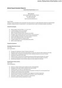 Resume Sle For International School Field Superintendent Resume Sales Superintendent Lewesmr