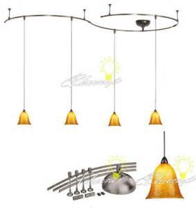 track pendant lighting kits four light monorail bell pendant kit and