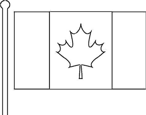 Flag Of Canada Coloring Page Supercoloring Com Canada Flag Coloring Page
