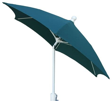 5 Foot Umbrella Patio 7 5 Foot Forest Green White Finish Hexagonal Patio Umbrella Outdoor Umbrellas By Vista Stores