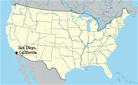 usa map states san diego attractions in san diego california