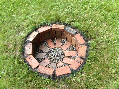 backyard brick fire pit 12 diy fire pits for your backyard the craftiest couple