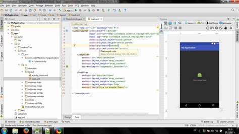 android studio custom layout creating custom toast in android studio youtube