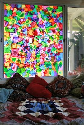 How To Make A Paper Window - tissue paper stained glass 11 cool ideas guide