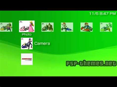psp theme viewer pin mario kart wii psp theme on pinterest